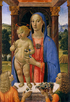 Madonna And Child With Angels Poster by Cosimo Rosselli