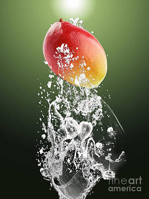 Mango Splash Poster by Marvin Blaine