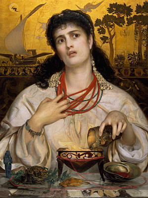 Medea Poster by Frederick Sandys