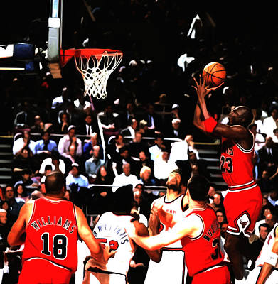 Michael Jordan Soft Touch Poster by Brian Reaves