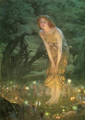 Midsummer Eve Poster by Edward Robert Hughes