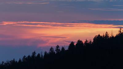 Mountain Sunset Poster by Bryan Bzdula