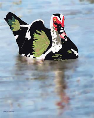 Muscovie Duck Poster by Rosalie Scanlon