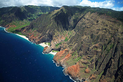 Na Pali Coast Aerial Poster by Peter French - Printscapes
