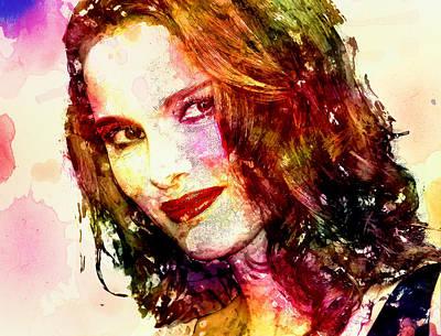 Natalie Portman Poster by Elena Kosvincheva