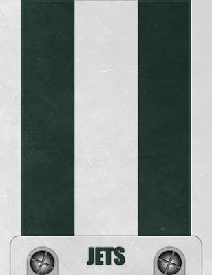 New York Jets Helmet Art Poster by Joe Hamilton
