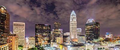 Night View Scenes Around Charlotte North Carolina Poster by Alex Grichenko