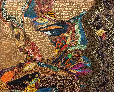 Nina Simone Fragmented- Mississippi Goddamn Poster by Apanaki Temitayo M
