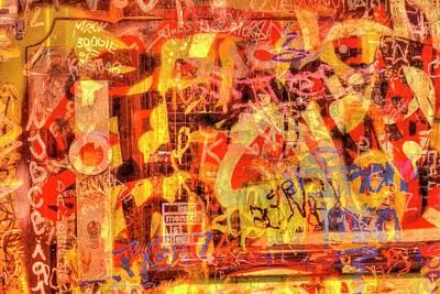 Old Door With Graffiti Poster by Torsten Krueger