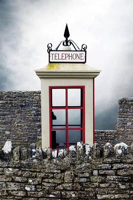 Old Telephone Booth Poster by Joana Kruse