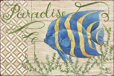 Paradise Reef Iv Poster by Paul Brent