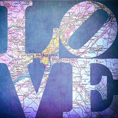 Philly Love V11 Poster by Brandi Fitzgerald