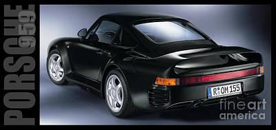 Porsche 959 Poster by Jon Neidert