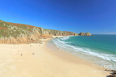 Porthcurno Poster by Carl Whitfield