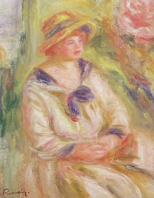 Portrait Of A Woman  Poster by Pierre Auguste Renoir