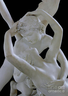 Psyche Revived By The Kiss Of Cupid Poster by Antonio Canova