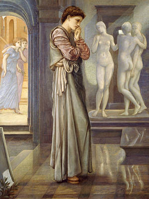 Pygmalion And The Image The Heart Desires Poster by Edward Burne-Jones