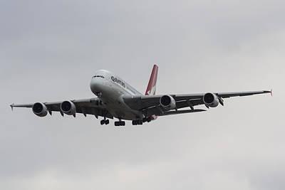 Qantas Airbus A380 Poster by David Pyatt
