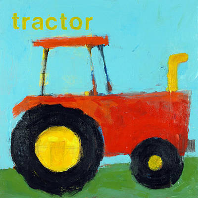 Red Tractor Poster by Laurie Breen