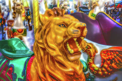 Roaring Lion Ride Poster by Garry Gay