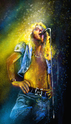 Robert Plant 01 Poster by Miki De Goodaboom