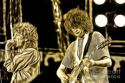 Robert Plant And Jimmy Page Poster by Marvin Blaine