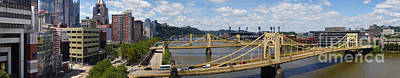 Roberto Clemente Bridge And Pnc Park Pittsburgh Pennsylvania Poster by Amy Cicconi
