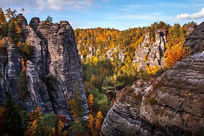 Rocks Of Saxon Switzerland Poster by Jenny Rainbow