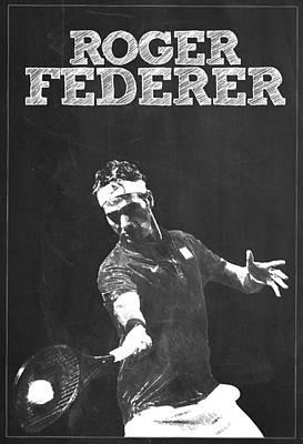 Roger Federer Poster by Semih Yurdabak