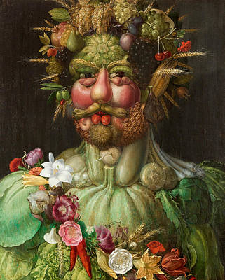 Rudolf II Of Habsburg As Vertumnus Poster by Giuseppe Arcimboldo
