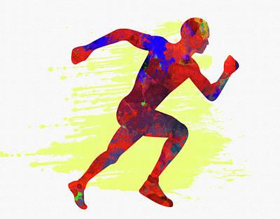 Runner Poster by Elena Kosvincheva