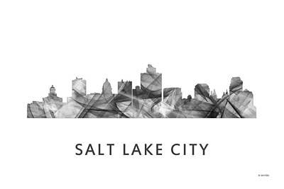 Salt Lake City Utah Skyline Poster by Marlene Watson