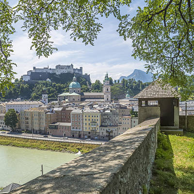 Salzburg Gorgeous Old Town With Citywall Poster by Melanie Viola
