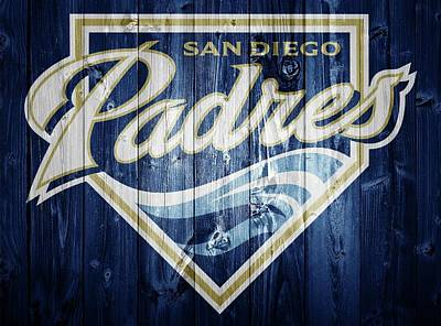 San Diego Padres Barn Door Poster by Dan Sproul