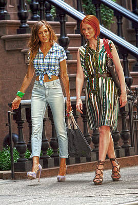 Sarah Jessica Parker On The Set Of Sex And The City 2 Poster by Artisan  Array