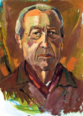 Senior Man Portrait  By Ivailo Nikolov Poster by Boyan Dimitrov