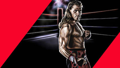 Shawn Michaels Wrestling Collection Poster by Marvin Blaine