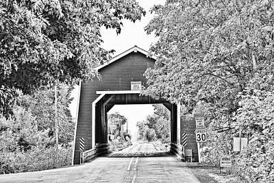 Shimanek Covered Bridge Poster by Scott Pellegrin