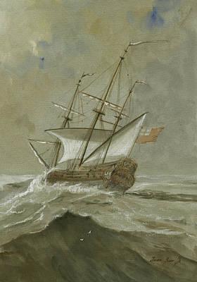 Ship At The Storm Poster by Juan Bosco