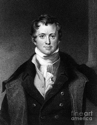 Sir Humphry Davy, English Chemist Poster by Middle Temple Library
