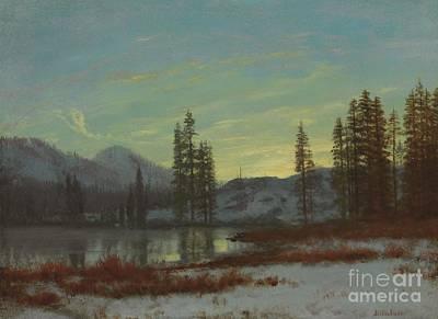 Snow In The Rockies Poster by Albert Bierstadt