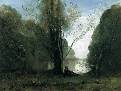 Solitude. Recollection Of Vigen, Limousin  Poster by Jean-Baptiste-Camille Corot