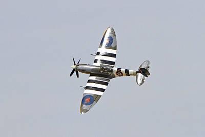 Spitfire In Flight Poster by Shoal Hollingsworth