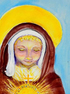 St. Clare Of Assisi Poster by Susan  Clark