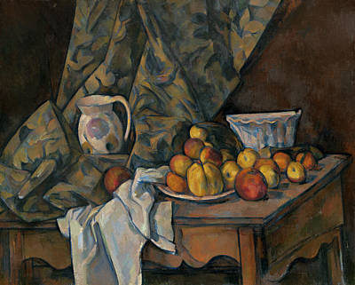 Still Life With Apples And Peaches Poster by Paul Cezanne