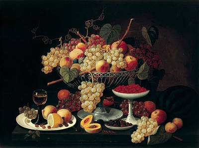 Still Life With Fruit Poster by Celestial Images