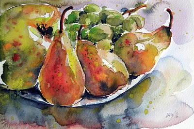 Still Life With Fruits Poster by Kovacs Anna Brigitta