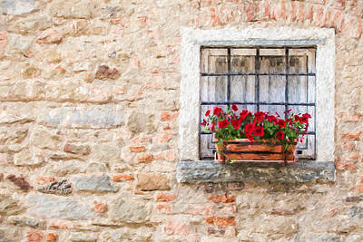 Stone Window Of Cortona  Poster by David Letts