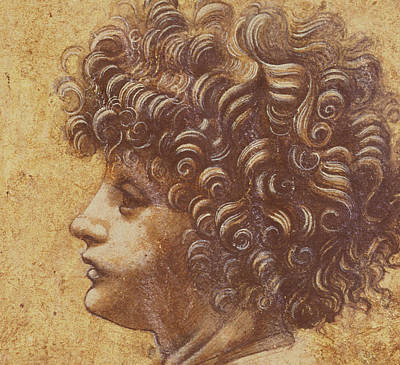 Study Of A Child's Head Poster by Leonardo Da Vinci