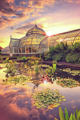 Sunset At Phipps Conservatory Poster by Emmanuel Panagiotakis